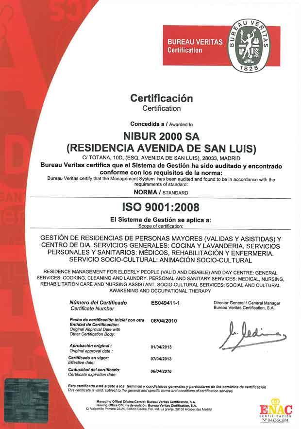 ISO 9001 - Nibur2000