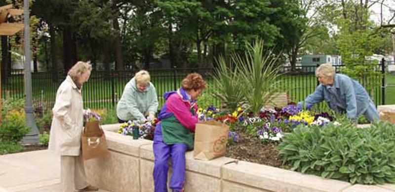 Jardines terapéuticos para personas mayores