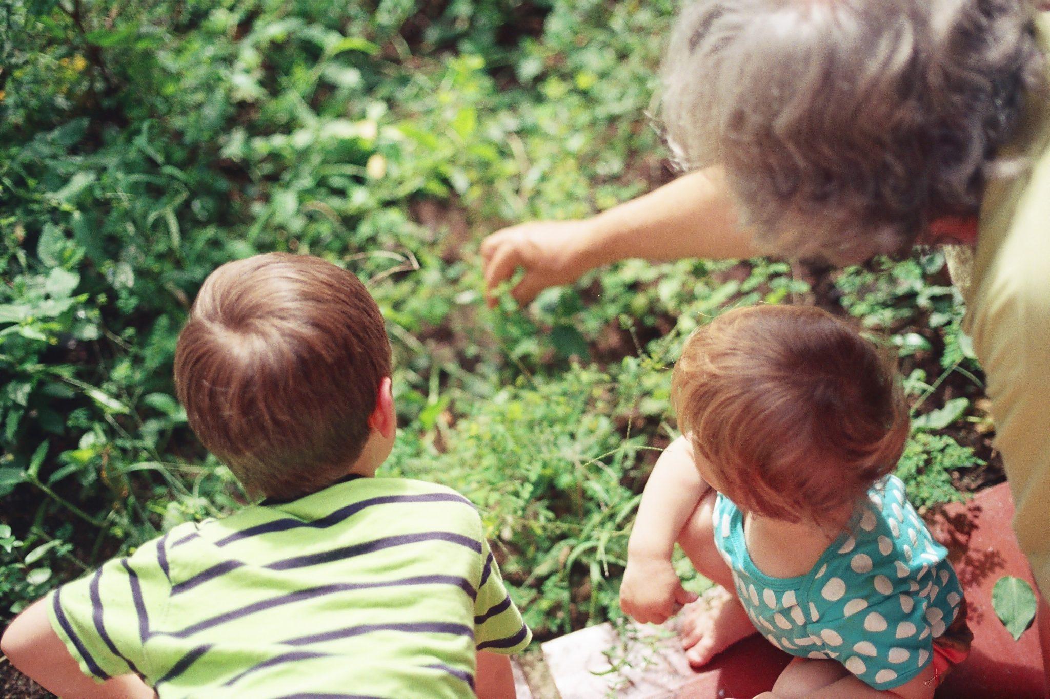niños y ancianos